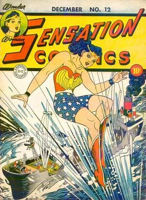 Cover for Sensation Comics #12