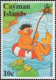 Cayman stamps Sesame Street Ernie 10 cents