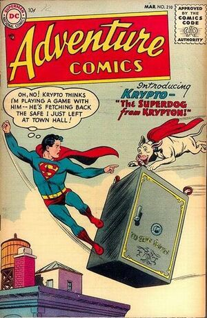 Cover for Adventure Comics #210