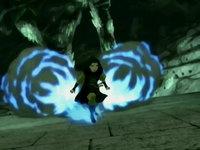 Azula's blue fire jets