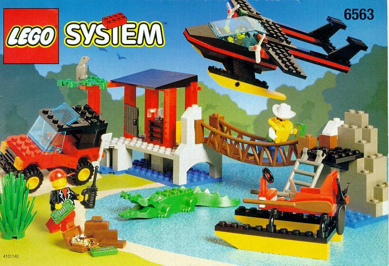 Схемы и инструкции Lego City - Gator Landing (Высадка аллигатора) - Lego 6563.