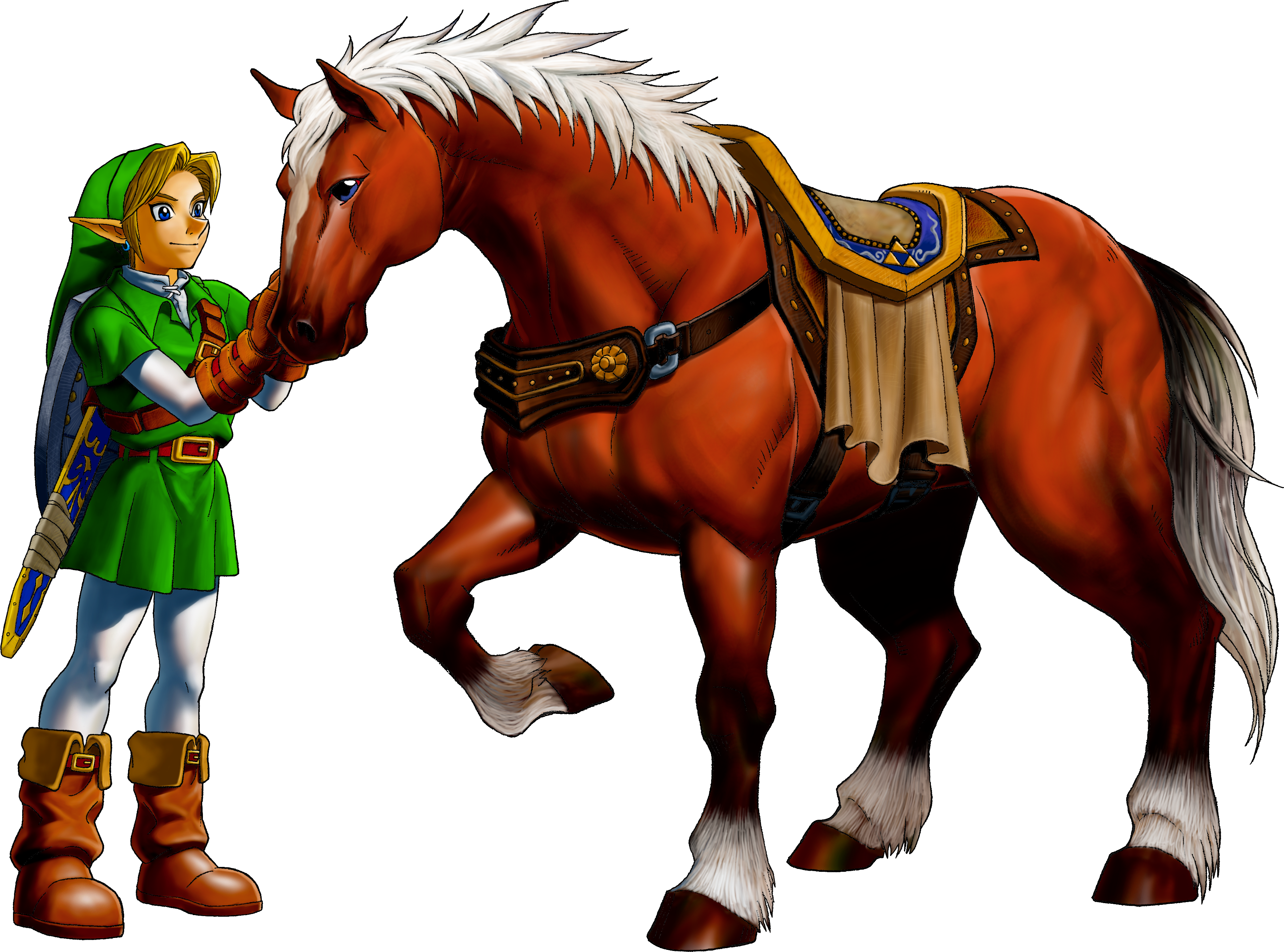Wonderful Wallpaper Horse Fairy - Link_and_Epona_(Ocarina_of_Time)  Graphic_634679.png