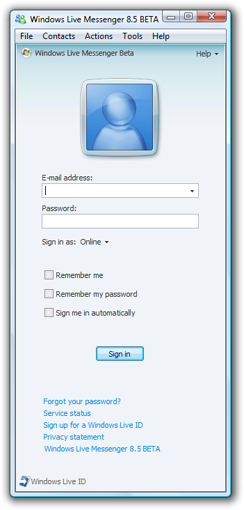 window live messenger 8 beta