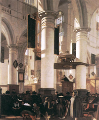 Interior of a Calvinist church