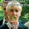 Draco malfoy apple
