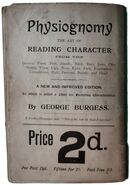 Book by George Burgess on Phrenology, back page