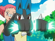 EP535 Lucario formando ataque seo