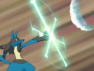 EP537 Lucario deteniendo las bombas snicas