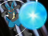 EP537 Lucario usando esfera aural