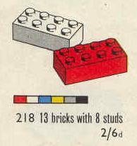 LEGO System et autres (1957-1970) 218_2x4_Bricks