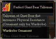 Perfect Giant Bear Talisman