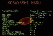 Kobayashi Maru data