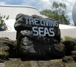 Living seas entrance sign