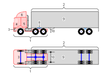 COE 18-wheeler truck diagram