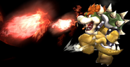 Bowser Midair Fire