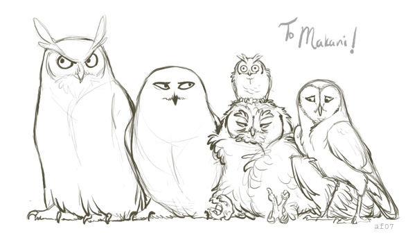 The Owls of Harry Potter by lyosha