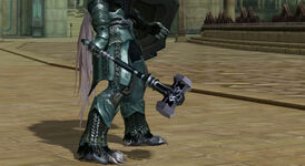 Player with mace