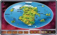Bajor surface map