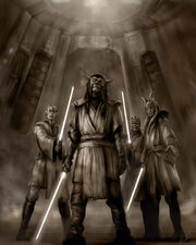 Rough sketch Jedi by chrisscalf