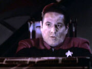 Chakotay hit by plasma surge