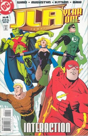 Cover for JLA: Year One #4