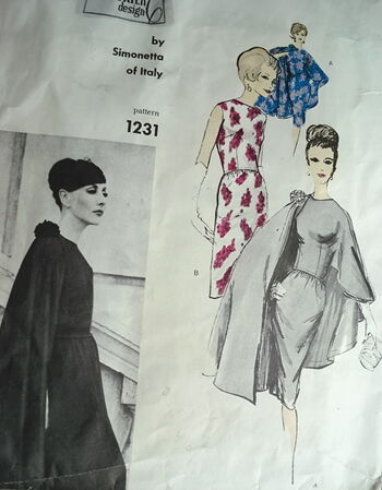 Vogue 1231 1960s Simonetta pattern