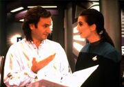 Rob Legato and Terry Farrell