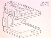 Electronic microscope sketch