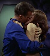 Kirk kissing Andrea