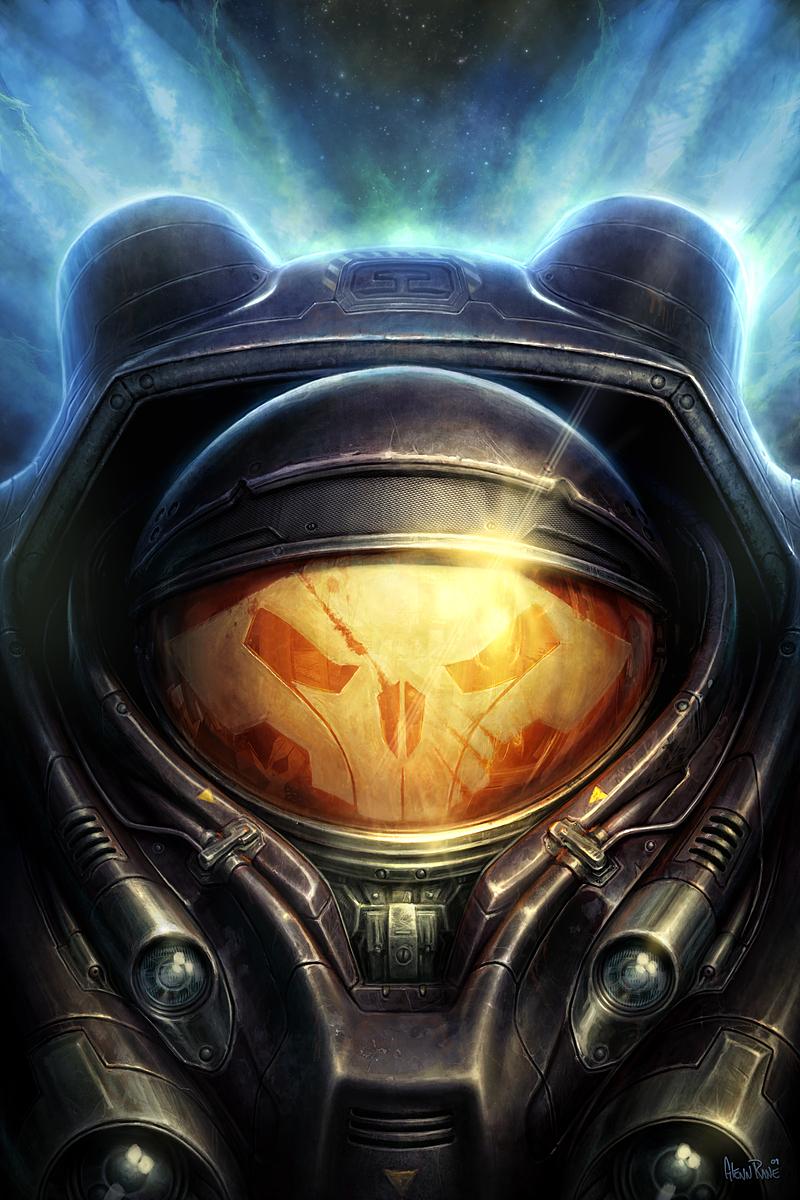 Hełm pancerza wspomaganego Jima Raynora z serii Starcraft.