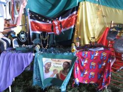 Ribbon of Hope (formerly Nakuru Women&#39;s Project) stall at Mantua festival 2008