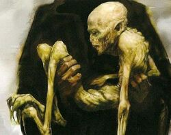 Voldemort's rudimentary body (concept artwork for HP4 movie)