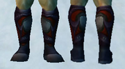 Sandals of Crimson Fury, Snow Background, Human Male