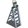 Ladder and Bucket-icon