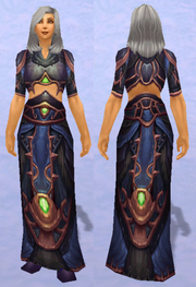 Merlin's Robe, Snow Background, Human Female