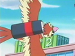 EP166 Pidgey portando una carta