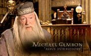 Michael Gambon (Albus Dumbledore) HP6 screenshot