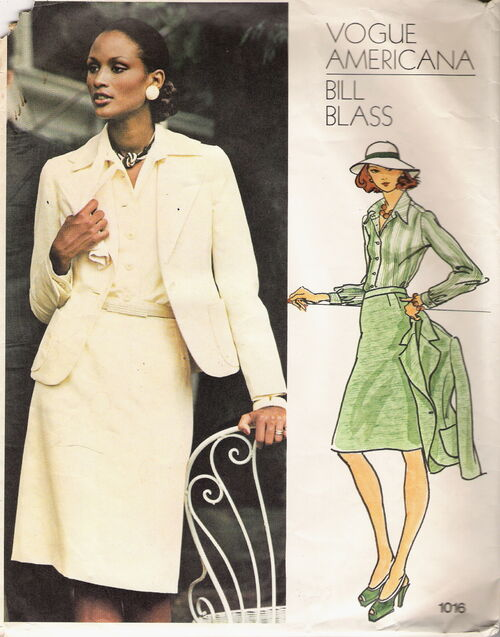 1970s Bill Blass pattern featuring Beverly Johnson, Vogue 1016