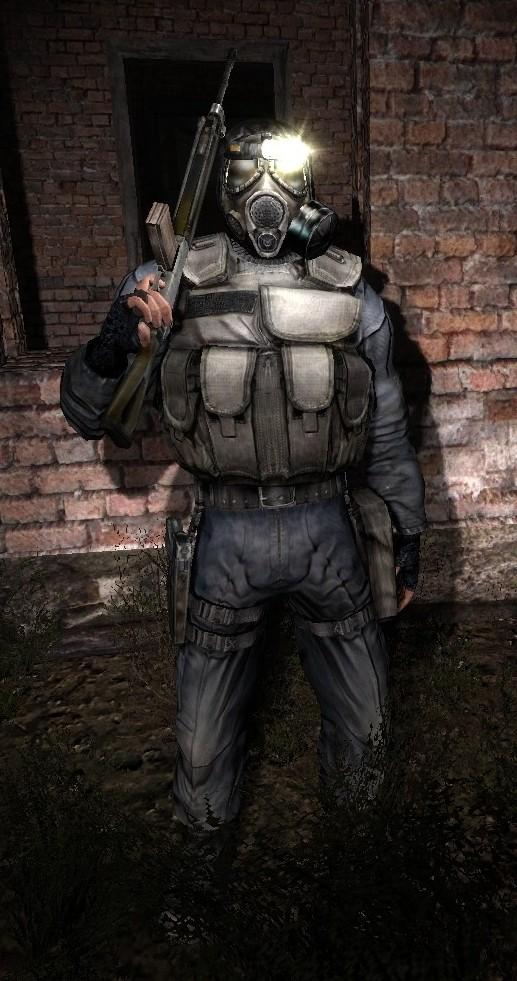 cosplay of Stalker shadow chernobyl