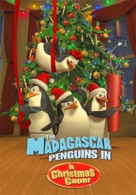 Madagascar penguins christmas poster