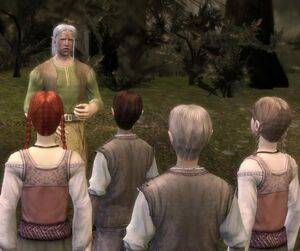 Character-Paivel teaches Dalish children