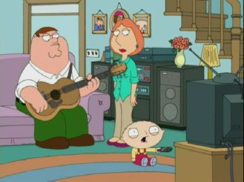 Stewie trying to write a song