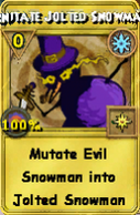 Mutate Jolted Snowman Treasure Card