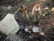 Spock and Leila by the creek, deleted scene