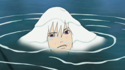 Suigetsu in water