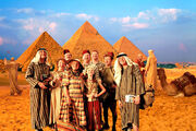 Famille Weasley en Egypte