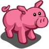 Hot Pink Pig-icon