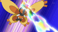 EP632 Mothim usando doble rayo