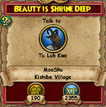 Beauty is Shrine Deep - MooShuQuests