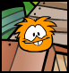 Orange Puffle At pet shop